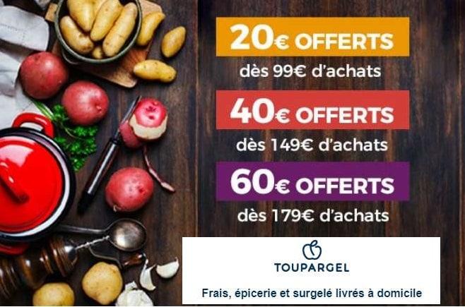 20€ de remise sur votre commande Toupargel de 99€