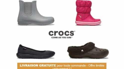 30% sur tout le site Crocs et livraison gratuite