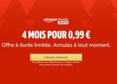 4 mois d'abonnement Amazon Music pour seulement 0,99€ (nouveaux membres) sans engagement