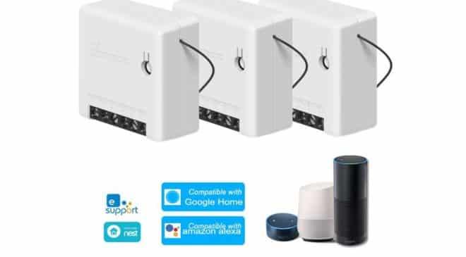 50% de remise sur les commutateurs connectés Wifi Sonoff Mini
