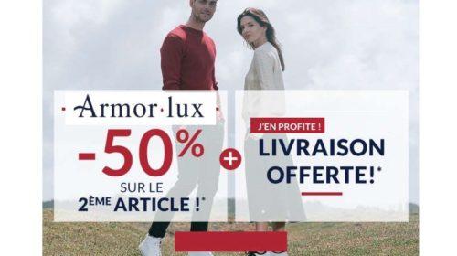 50% sur le deuxième article Armor Lux + Livraison offerte