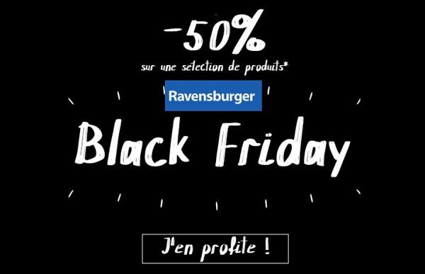 50% sur une sélection de jeux pour le Black Friday Ravensburger