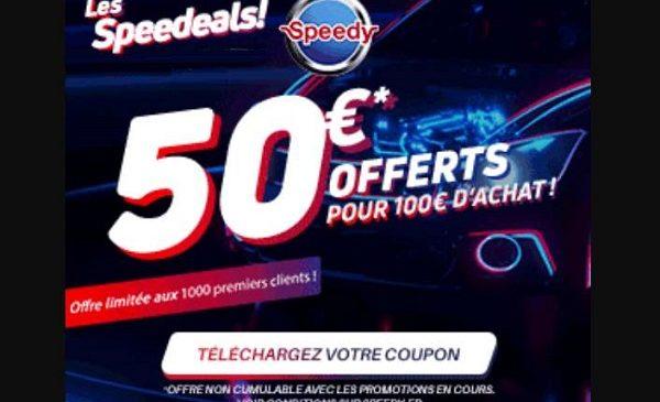 50€ pour faire pour 100€ de prestation dans un centre auto speedy