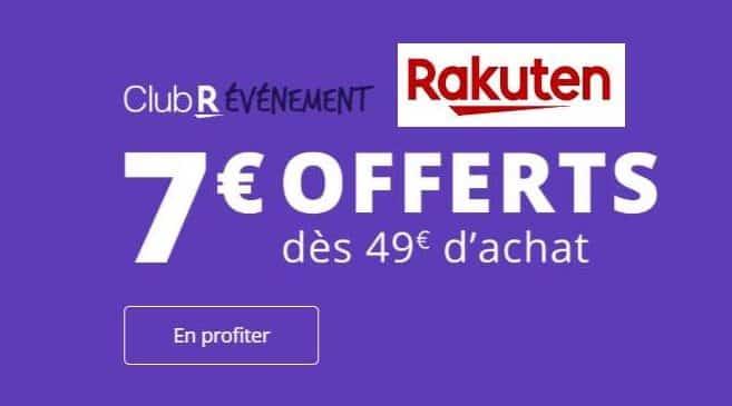 7€ de reduction sur Rakuten à partir de 49€