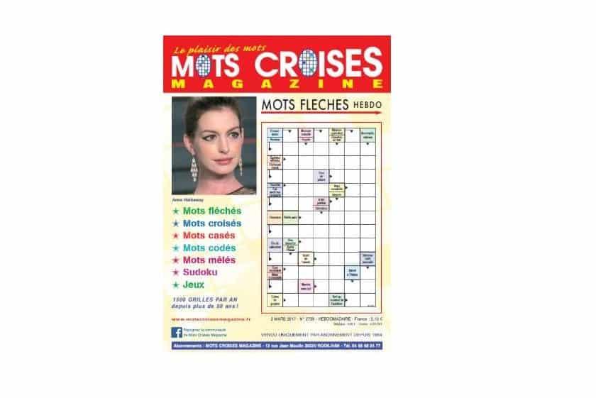 Abonnement pas cher Mots Croisés magazine - mots fléchés