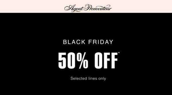 Black Friday Agent Provocateur