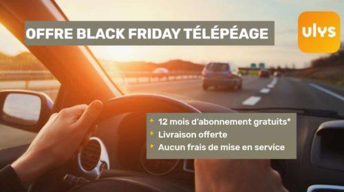 Black Friday Télépéage 12 mois d'abonnement gratuits + livraison offerte du badge Ulys by VINCI