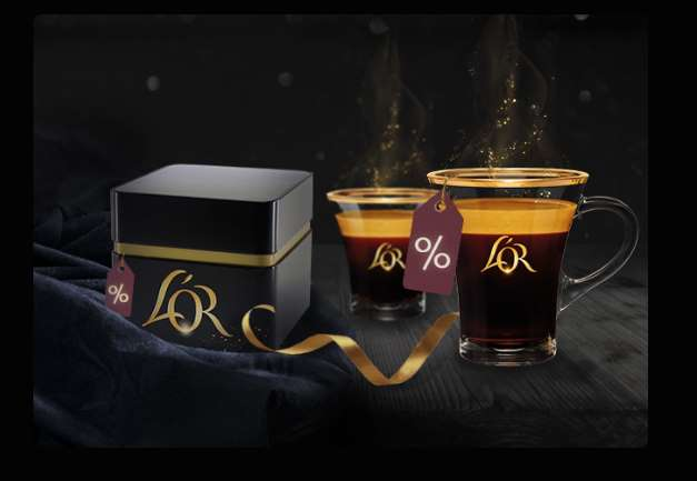 Black Friday café l'OR 34% de remise sur tous les capsules