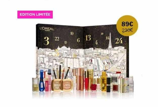 Calendrier de l'avent L'Oréal Paris 2019