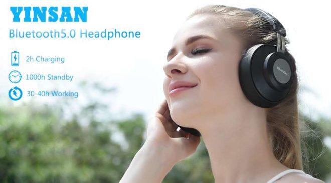 Casque Bluetooth 5.0 YINSAN (30 heures d'autonomie)