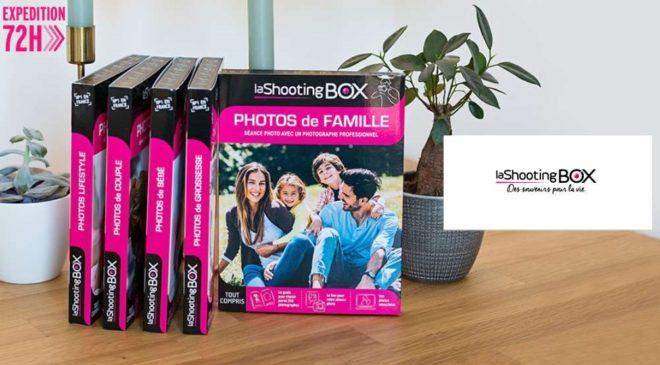 Coffrets séances photo professionnelles LaShootingBOX moins chers