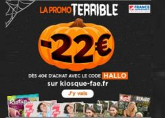 Offre flash 🎃 22€ de remise sur les abonnements magazines comme Elle, Télé 7 jours, France Football, Le Point, Maxi, Rustica…