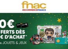 Jouets & jeux FNAC : 10€ offerts dès 50€ d'achats