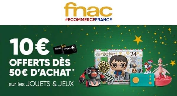 Jouets & Jeux Fnac 10€ Offerts Dès 50€ D'achats
