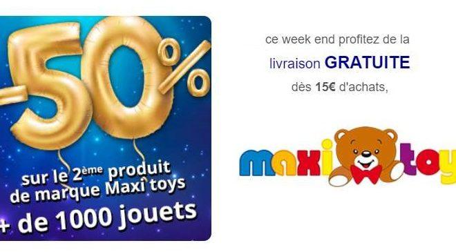 Livraison gratuite sur votre commande Maxitoys
