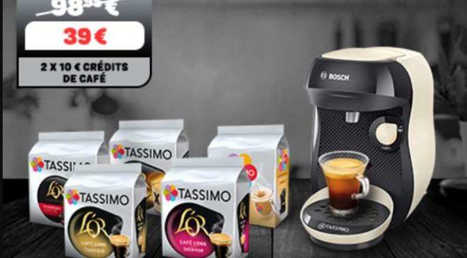 Machine Tassimo Happy ou Vivi gratuite pour 5 paquets de dosettes achetés