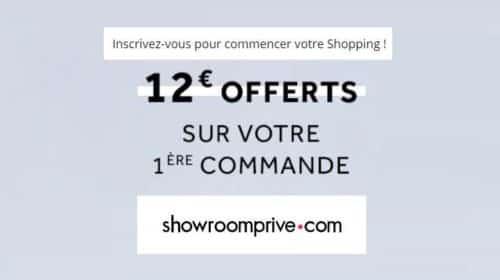 Offre bienvenue Showroomprivé 12€ de remise