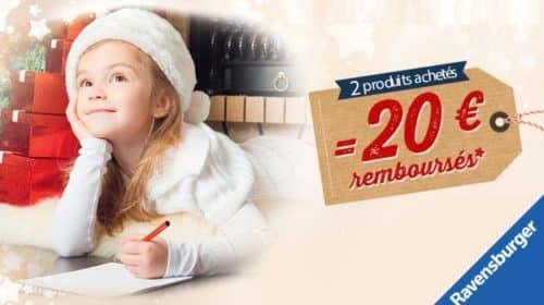 Offre de remboursement Ravensburger 20€ remboursé dés 2 articles achetés