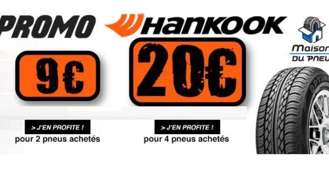 Réduction immédiate sur l'achat de pneus Hankook