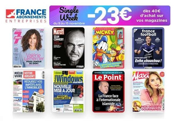 Single's Week Kiosquefae Réduction Sur Des Dizaines D'abonnements Magazine