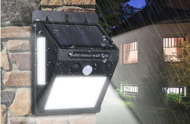 applique solaire 100 LED d'exterieur avec détecteur de mouvement Ltteny