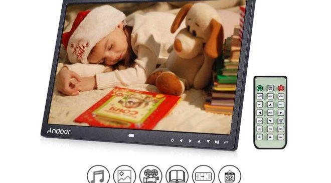 cadre numérique 13 pouces avec télécommande Andoer