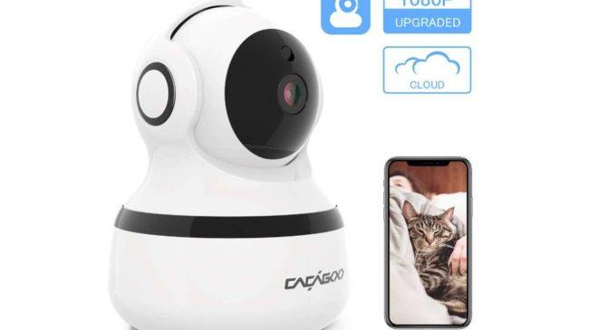 caméra de surveillance Wi-fi avec détecteur de mouvements et vision nocturne CACAGOO