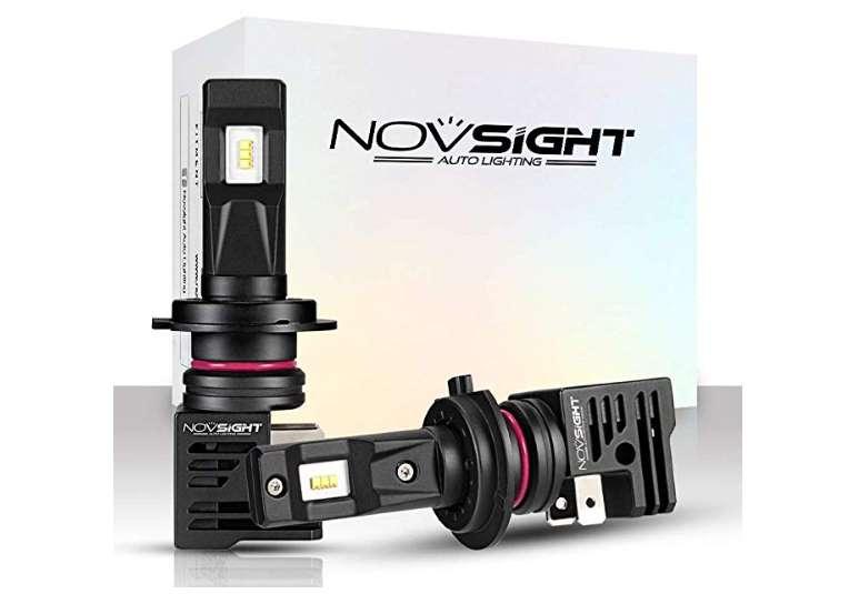 kit de 2 ampoules auto LED Novsight pour remplacement H7, H11, 9005 ou H4