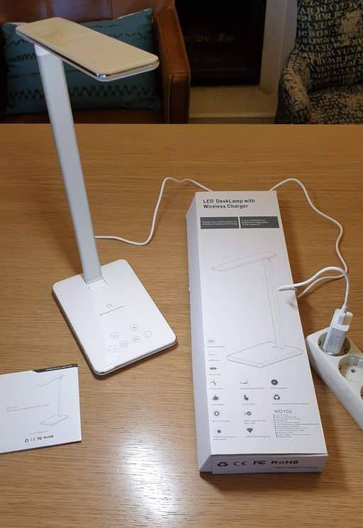 lampe de bureau LED & chargeur QIAGM