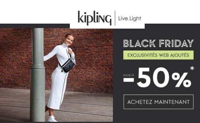 les offres Black Friday de Kipling