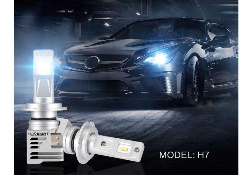 paire de 2 ampoules LED de phare H7 / H4 / H3 / H1 (6000K - 10000lm) KKmoon Novsight