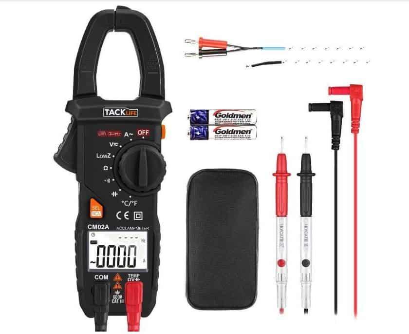 promotion pince ampèremétrique numérique Tacklife CM02A