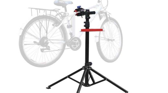 support pied atelier réparation vélo Amzdeal