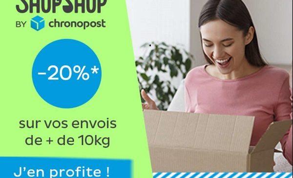 20% de reduction sur votre envoi shop2shop by chronopost