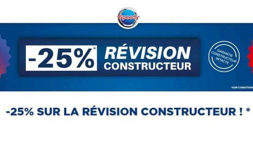 25% De Remise Immédiate Sur La Révision Constructeur Sur Speedy