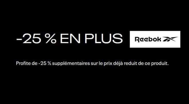 25% De Remise Supplémentaire Sur 1000 Articles Reebok En Promotion