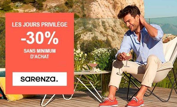 -30% sur (presque) tout le site Sarenza SANS minimum d'achat