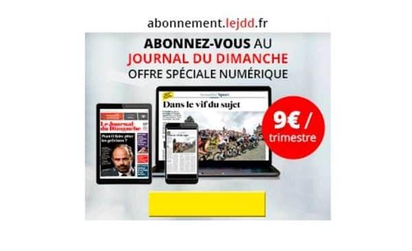 Abonnement Journal Du Dimanche Numérique Pas Cher