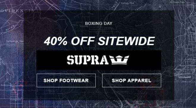 Boxing Day Supra