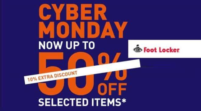 Cyber Monday Foot Locker : 10% de remise supplémentaire sur les promotions (jusqu'à -50%)