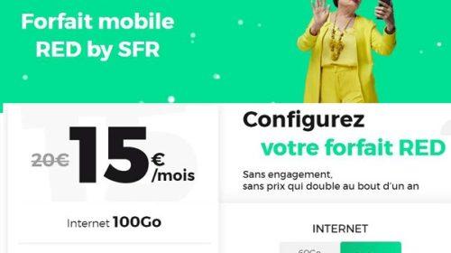 Forfait Red 100go De Sfr Pour Seulement 15€