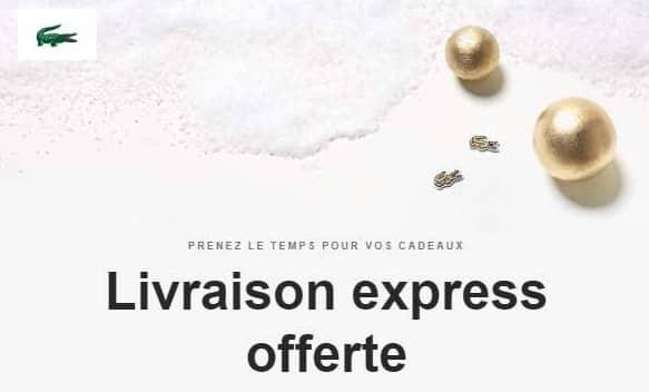 Livraison Express Offerte Sans Minimum Sur Lacoste