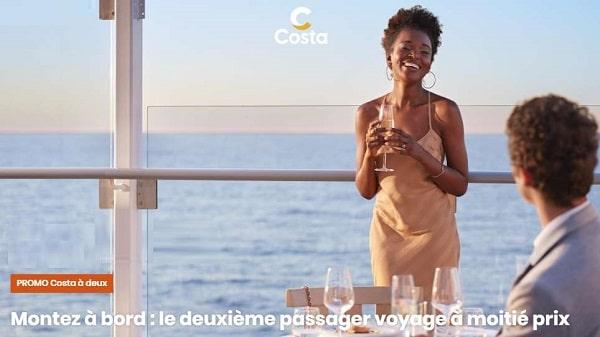 Offre spéciale Costa Croisières -50% sur la deuxième personne