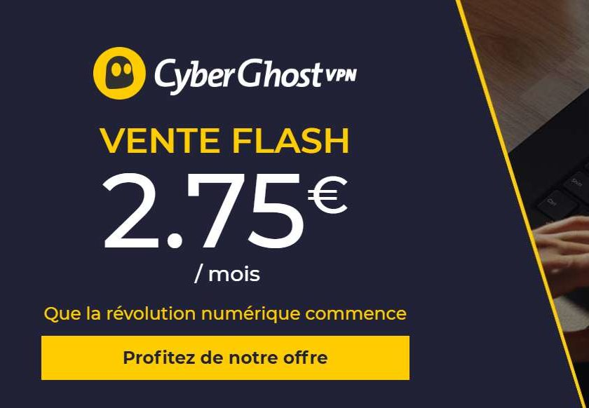 Vente flash CyberGhost VPN