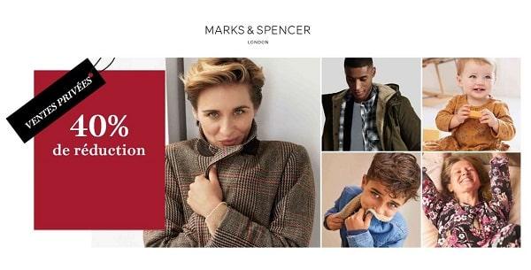 Vente Privée Marks & Spencer 40% De Remise