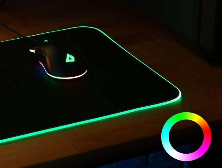 Grand Tapis De Souris Gamer Led Aukey 80 X 30 Cm