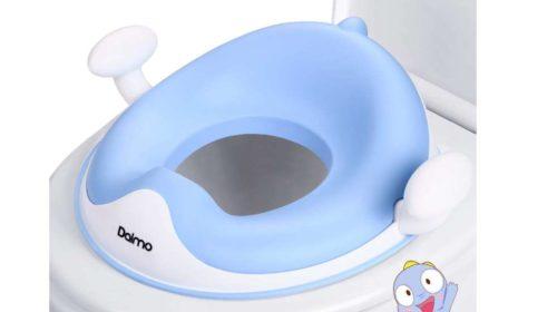 Réducteur de toilette antidérapant avec coussin et poignées Dalmo