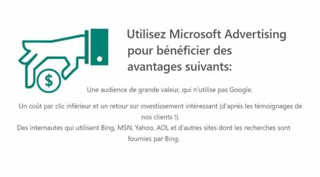 15€ De Publicité Microsoft Advertising (bing, Msn, Yahoo, Aol) 75€ Offerts