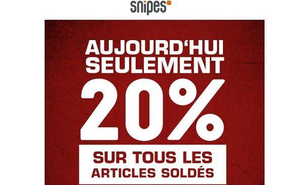 20% De Remise Supplémentaire Sur Les Soldes Snipes Et Livraison Gratuite