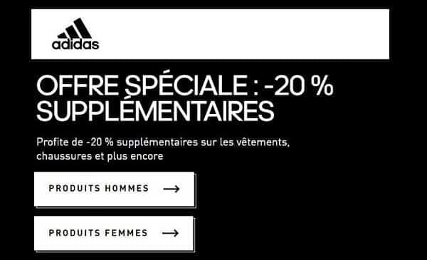 20% Supplémentaire L' Outlet Adidas Jusqu'à La Fin Du Mois
